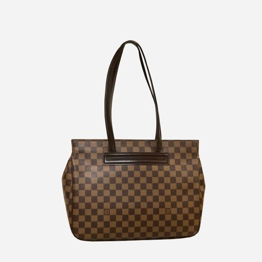 Louis Vuitton Damier Leather Tote in Brown and tan Image 2