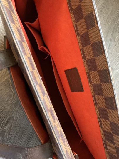 Louis Vuitton Damier Leather Tote in Brown and tan Image 4