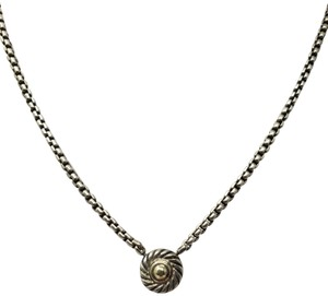 David Yurman Sterling silver 18k gold David Yurman Cookie box chain necklace