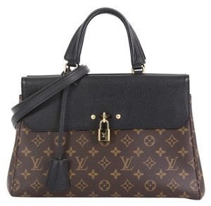 Louis Vuitton Canvas Leather Satchel in Brown