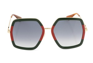 Gucci Oversize Square-Frame Metal