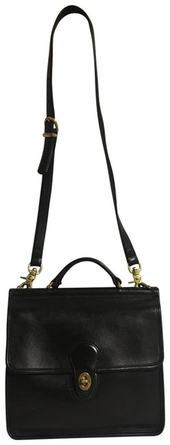Item - Vintage Handbag Black Leather Cross Body Bag