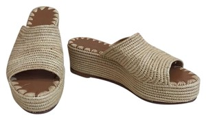 Carrie Forbes Tan Wedges