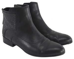 Pour La Victoire Leather Studded Casual Fall Summer BLACK/ SILVER Boots
