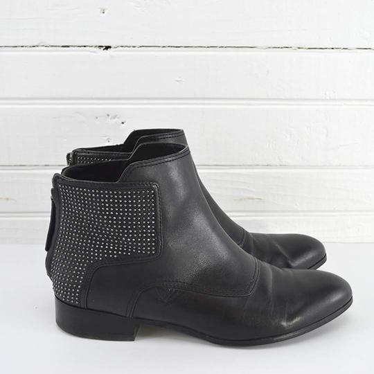 Pour La Victoire Leather Studded Casual Fall Summer BLACK/ SILVER Boots Image 2
