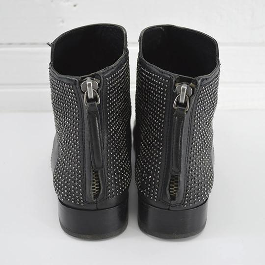 Pour La Victoire Leather Studded Casual Fall Summer BLACK/ SILVER Boots Image 3