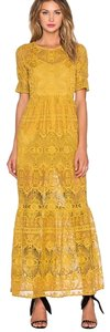 Yellow/Gold Maxi Dress by For Love & Lemons