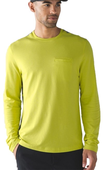 Item - Neon Green / Gray XL Men's In Your Element Long Sleeve Activewear Top Size 18 (XL, Plus 0x)