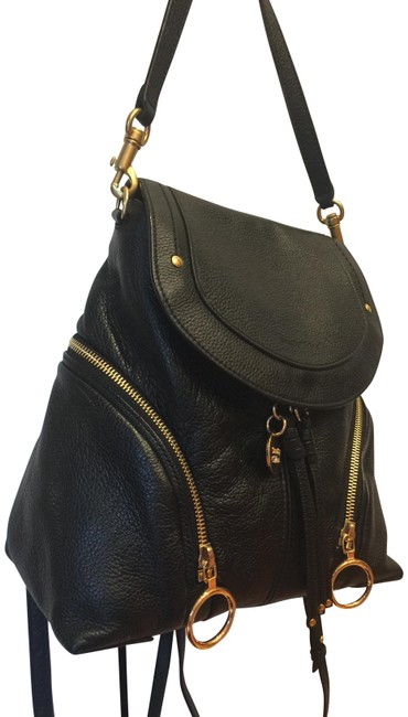 Item - Small Black Leather Backpack