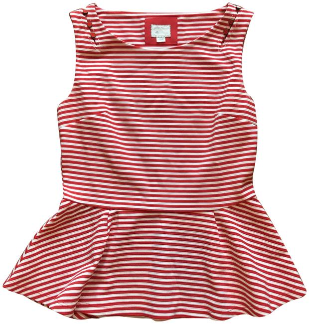 Item - 9-hi5 S'cl Postage Red & White Top