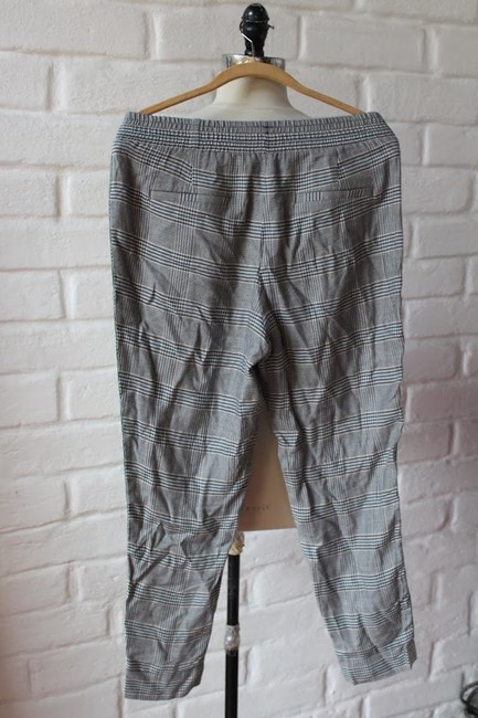 Zara Loose Fit Print Checked Relaxed Pants Gray Image 1