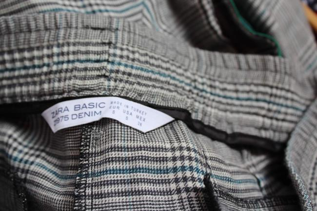 Zara Loose Fit Print Checked Relaxed Pants Gray Image 2