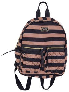 Mauve/Black Polyester Backpack