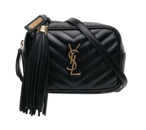 Saint Laurent Gold Hardware Quilted Belted Cross Body Bag