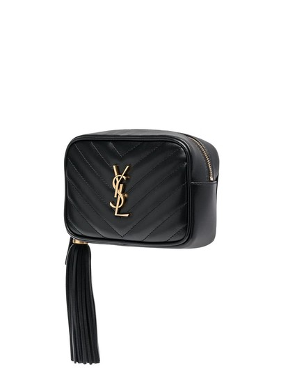 Saint Laurent Gold Hardware Quilted Belted Cross Body Bag Image 3
