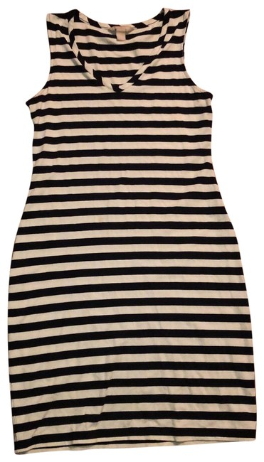 Item - Black and Ivory Sleeveless Striped Summer Short Casual Dress Size 6 (S)