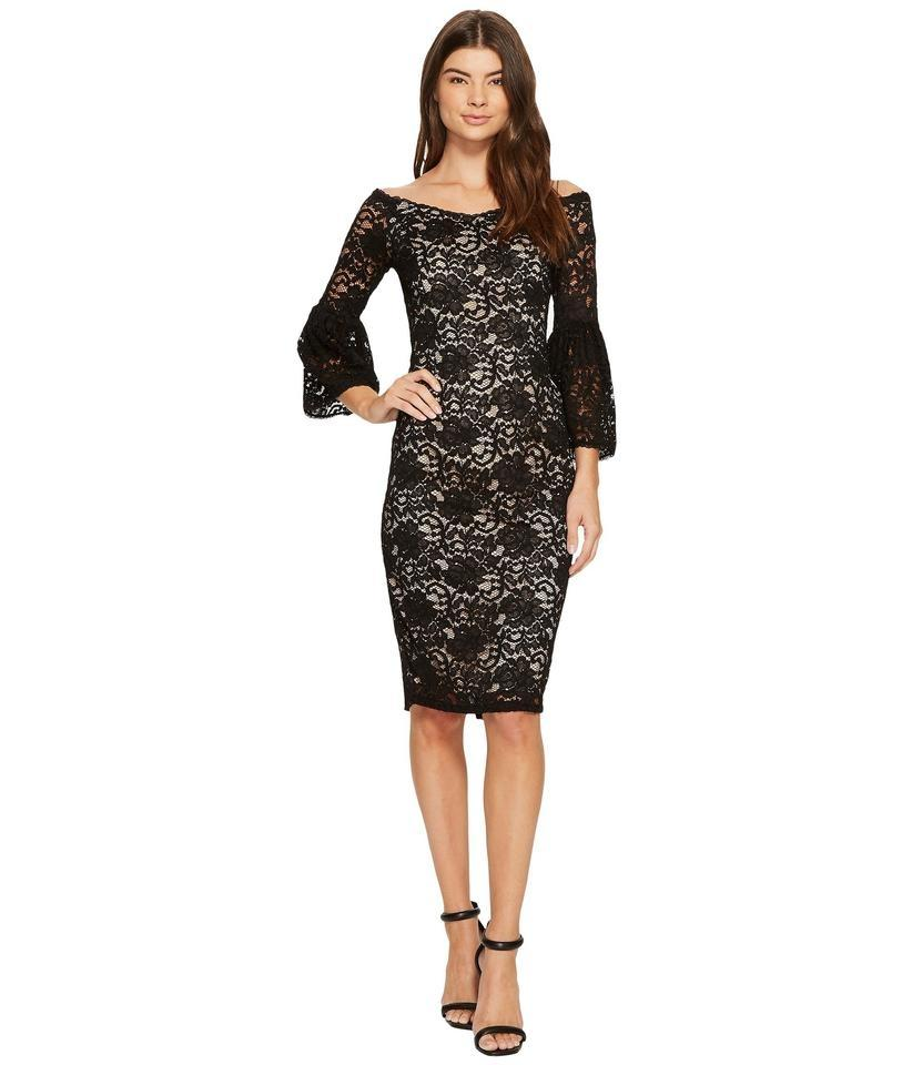 8727ba9a Adrianna Papell Black & Bisque Lace Off-shoulder Sheath Cocktail Dress