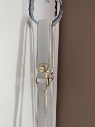 MILLY Leather Shoulder Woven Metallic Cross Body Bag Image 3