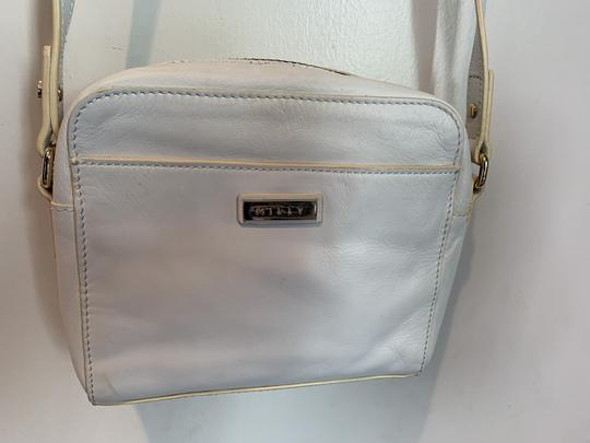 MILLY Leather Shoulder Woven Metallic Cross Body Bag Image 6