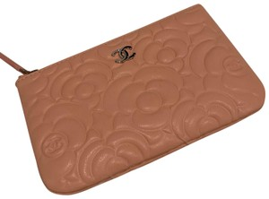 Chanel Chanel 19P mini o case in blush camellia lambskin