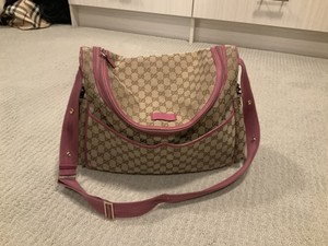 Gucci Light brown with pink Diaper Bag