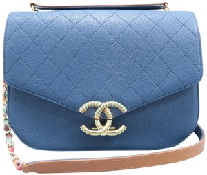 67be1ec59c7 Blue Chanel Bags - 70% - 90% off at Tradesy