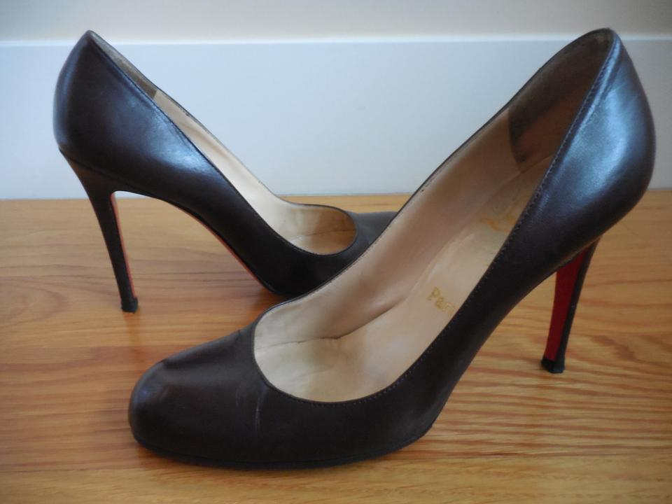 8d99e9a018 Christian Louboutin Dark Brown Leather ~ 8/8.5 ~ 100mm Simple Pumps ...
