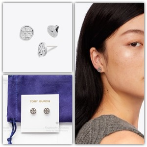 Tory Burch LOGO CIRCLE-STUD EARRING