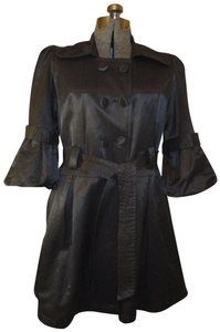 Luii 3/4 Sleeve Cotton Belted 001onm Trench Coat