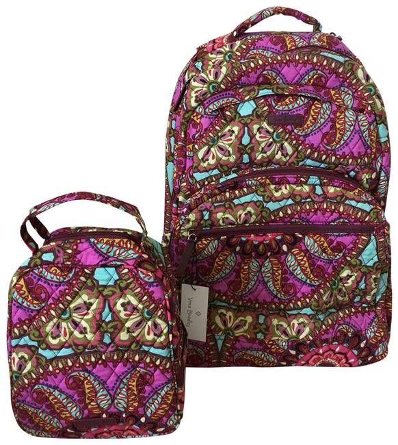 Item - Laptop and Lunch Set Purple Pink Green Backpack