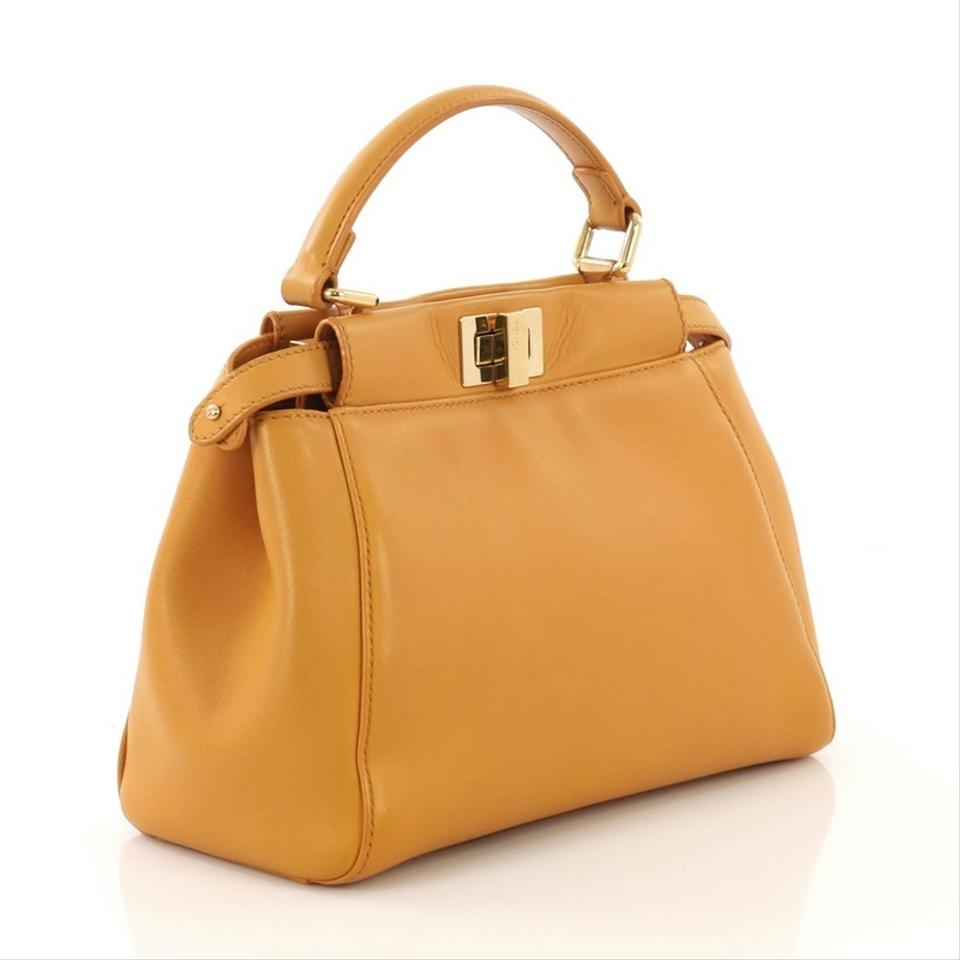3ab5f32565 Fendi Peekaboo Leather Mini Tote - Tradesy
