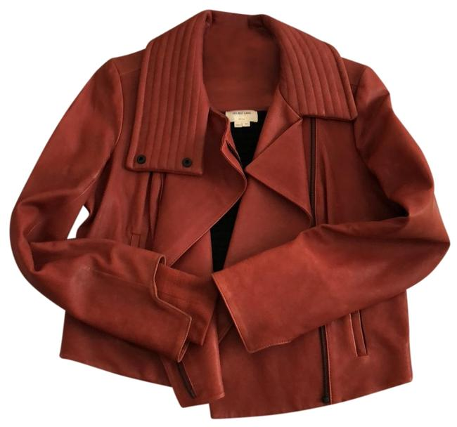 Item - Blood Red Motorcycle Waxy Jacket Size 8 (M)
