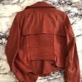 Helmut Lang Blood Red Motorcycle Waxy Jacket Size 8 (M) Helmut Lang Blood Red Motorcycle Waxy Jacket Size 8 (M) Image 2