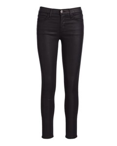 Current/Elliott Coated Waxed Stiletto Skinny Jeans-Coated