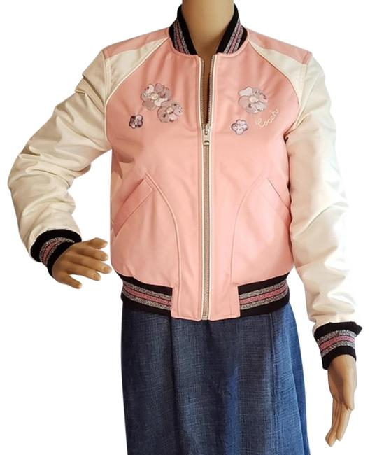 Coach Pink/White Crush Msrp Jacket Size 0 (XS) Coach Pink/White Crush Msrp Jacket Size 0 (XS) Image 1
