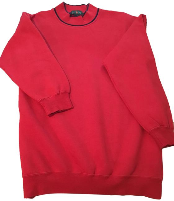 Item - Red French Terry Crewneck Sweatshirt/Hoodie Size 8 (M)