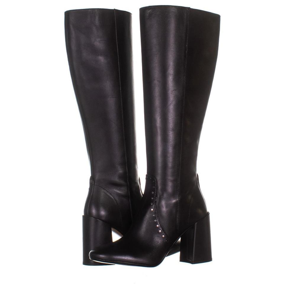 c3cc5ca0a39 Coach Black Falon Knee High Heeled 095 Leather / Boots/Booties Size US 7.5  Regular (M, B) 48% off retail