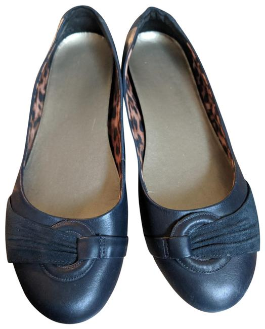 Item - Navy Blue Leather Flats Size US 10 Wide (C, D)