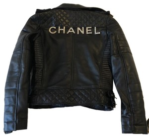 Chanel black Leather Jacket