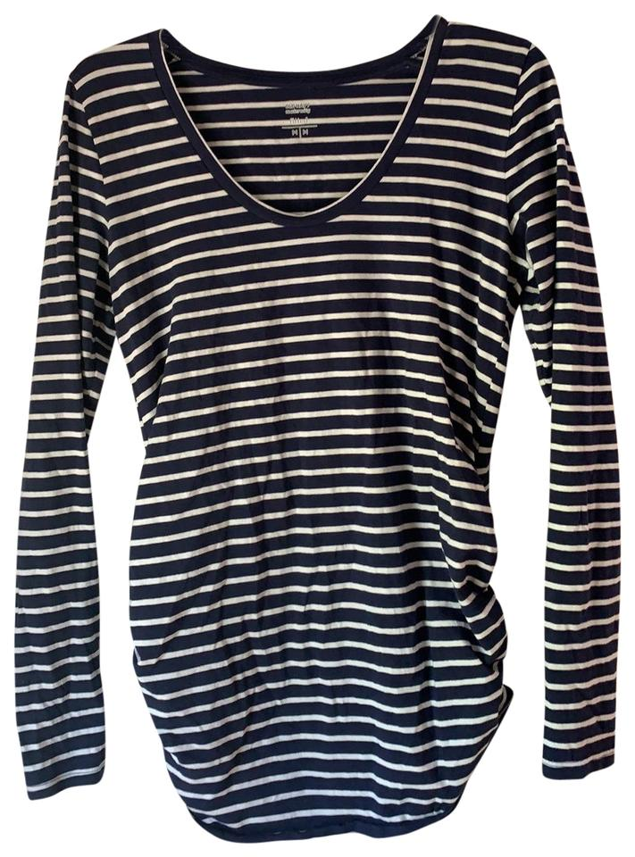 8520b187ab Old Navy Blue and White Stripe Fitted Shirt Maternity Top Size 8 (M ...