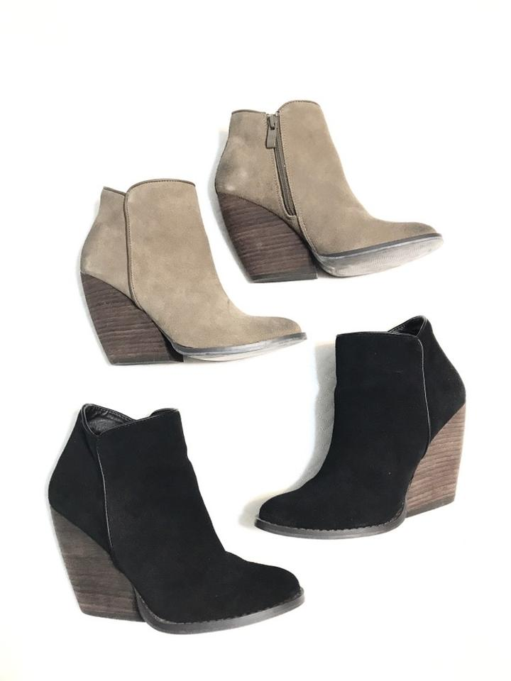 26d70b7c208 Very Volatile Suede Wooden Wedge Boots/Booties Size US 6 Regular (M, B)