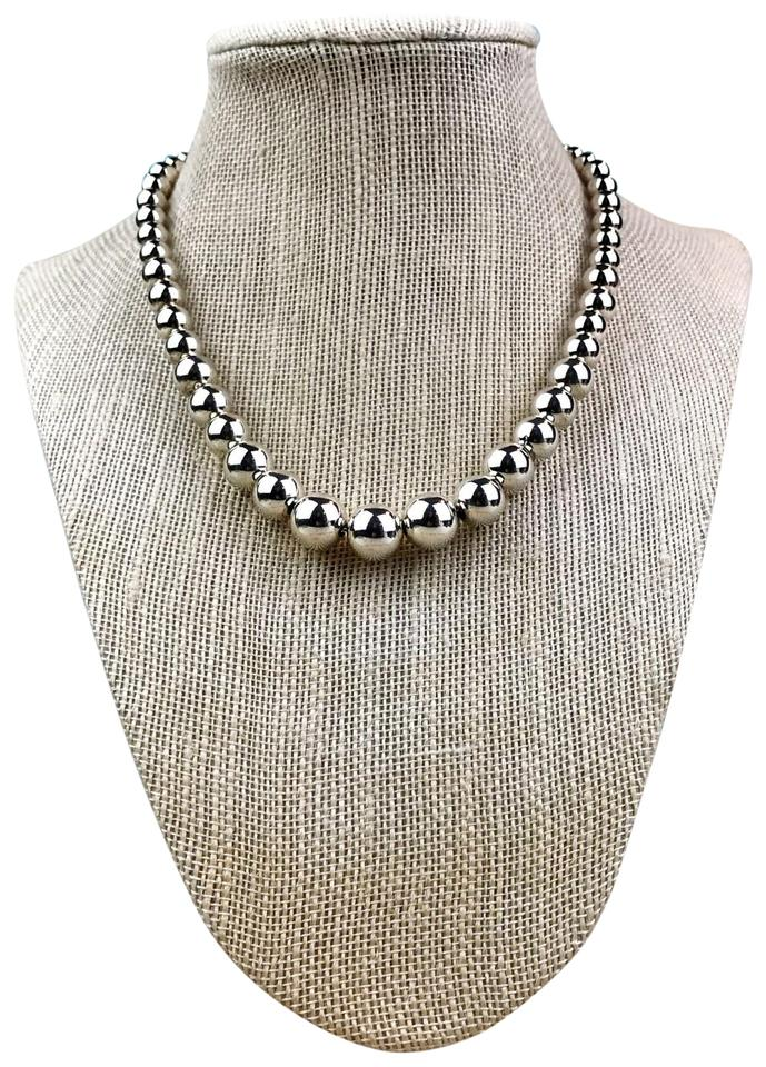 8f1842e6a Tiffany & Co. Tiffany & Co. 925 Sterling Silver Graduated Ball Beaded  Necklace SALE ...