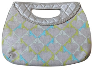 Vera Bradley Lovebirds Gold and light beige Clutch