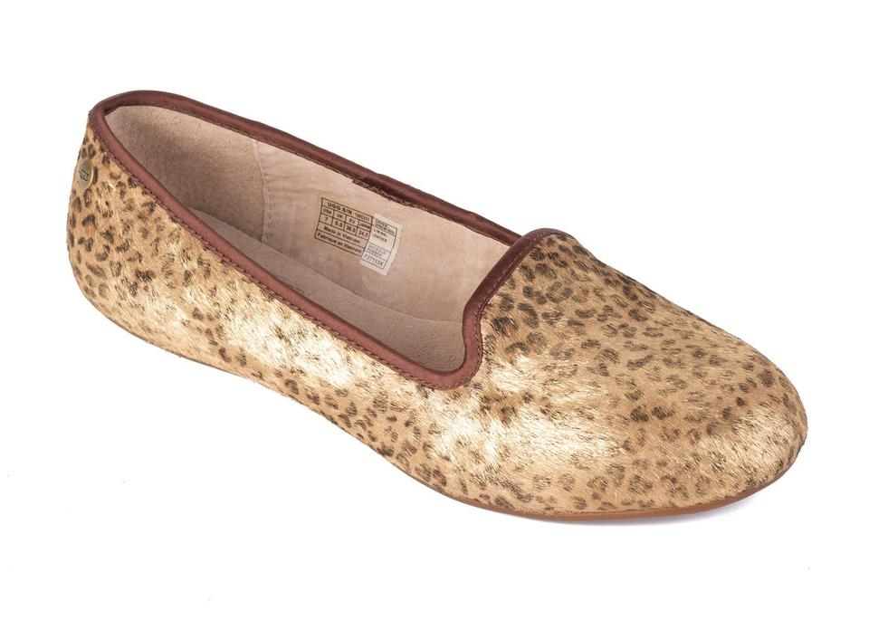 958fdd31832 UGG Australia Gold Womens Leopard Leather Alloway Metallic Loafers C3731  Flats Size US 7 Regular (M, B) 41% off retail