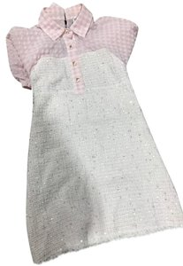 Chanel short dress white pink on Tradesy