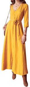 mustard Maxi Dress by Sézane