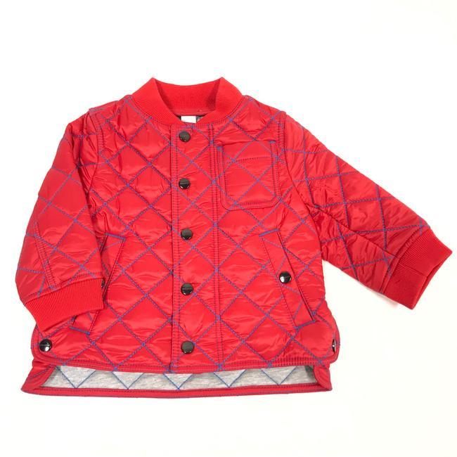 Item - Bright Orange Red Kid's Topstitched Quilted 6m Jacket Size OS (one size)