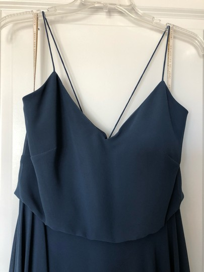 Jenny Yoo Evening Blue Luxe Chiffon Inesse Formal Bridesmaid/Mob Dress Size 6 (S) Image 1