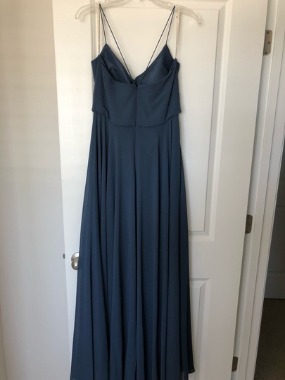Jenny Yoo Evening Blue Luxe Chiffon Inesse Formal Bridesmaid/Mob Dress Size 6 (S) Image 2