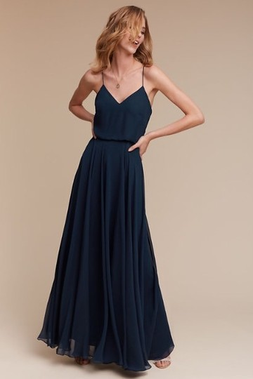 Jenny Yoo Evening Blue Luxe Chiffon Inesse Formal Bridesmaid/Mob Dress Size 6 (S) Image 5